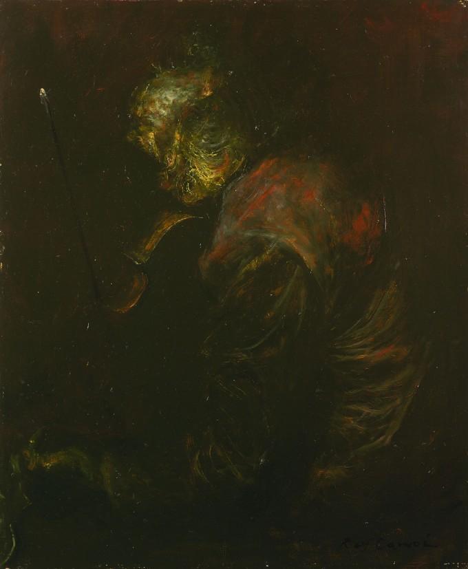 「ヴァイオリン」 1974年 油彩 65.5×54.5