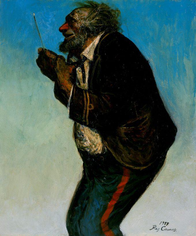 「村の楽隊」 1977年 油彩 73.0×60.8
